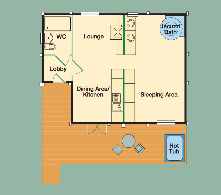 View the Poachers Lodge floorplan